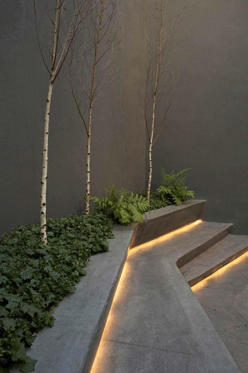 tuinverlichting inspiratie ledstrips onder meubels