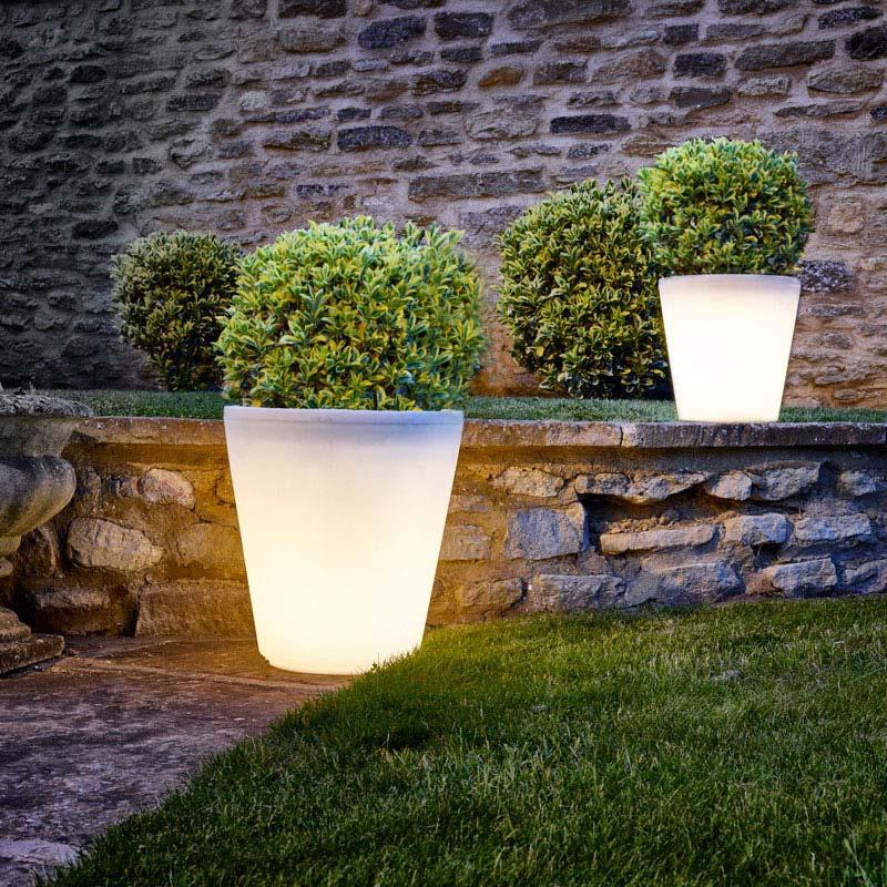tuinverlichting inspiratie plantenpot