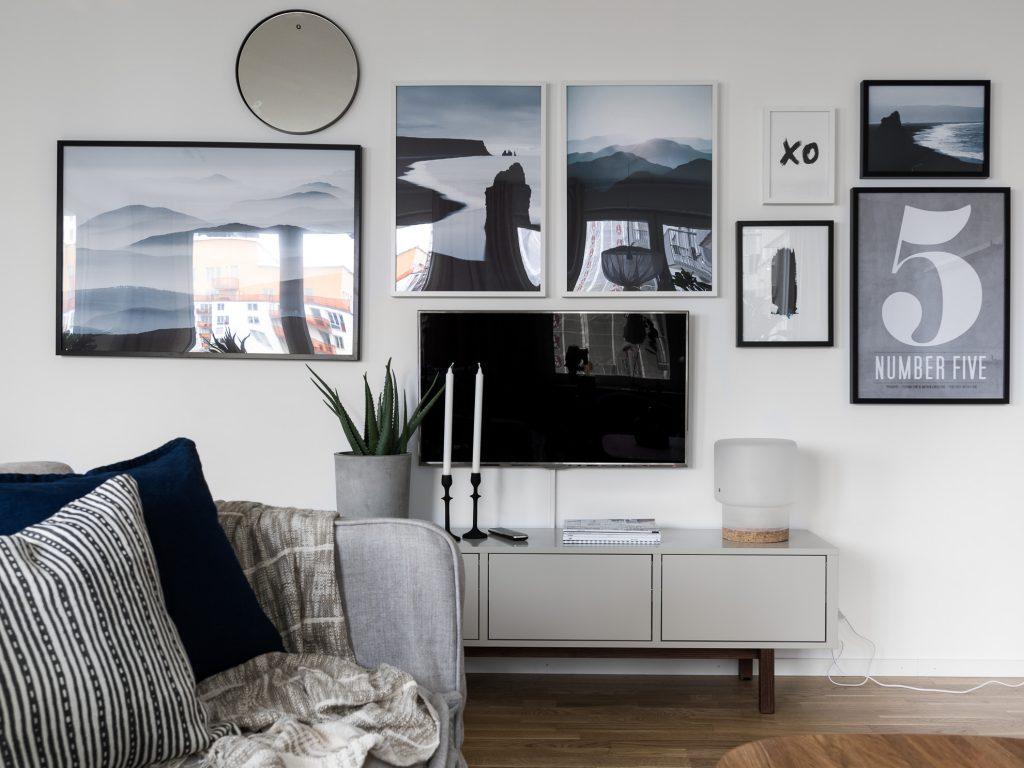 tv ophangen muur smalle kabelgoot