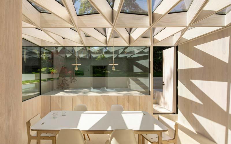 uitbouw interieur hout