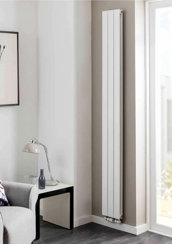 verticale radiator smalle muur