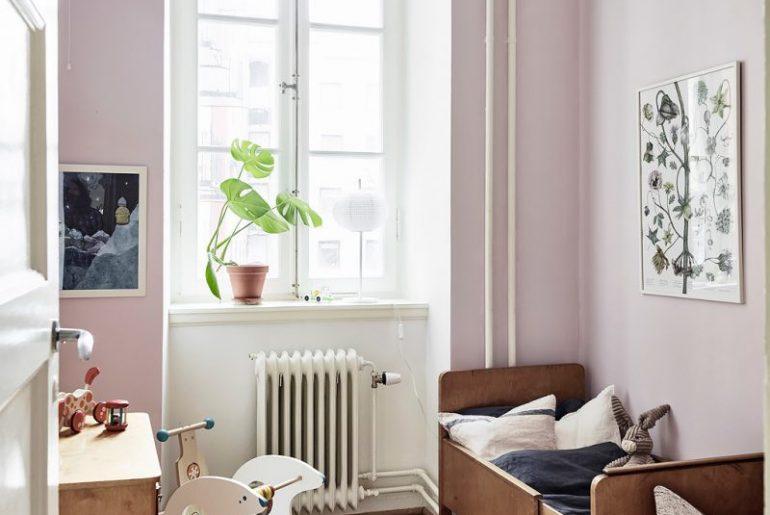 Roze Blauwe Kinderkamers : Vintage kinderkamer met roze muren homease