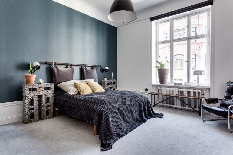 In deze vintage slaapkamer vind je hele leuke en inspirerende decoratie ideeën