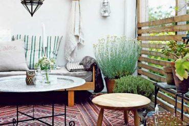 Vloerkleed in tuin