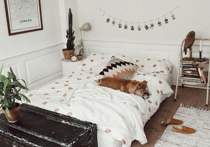 Vloerkleed naast bed