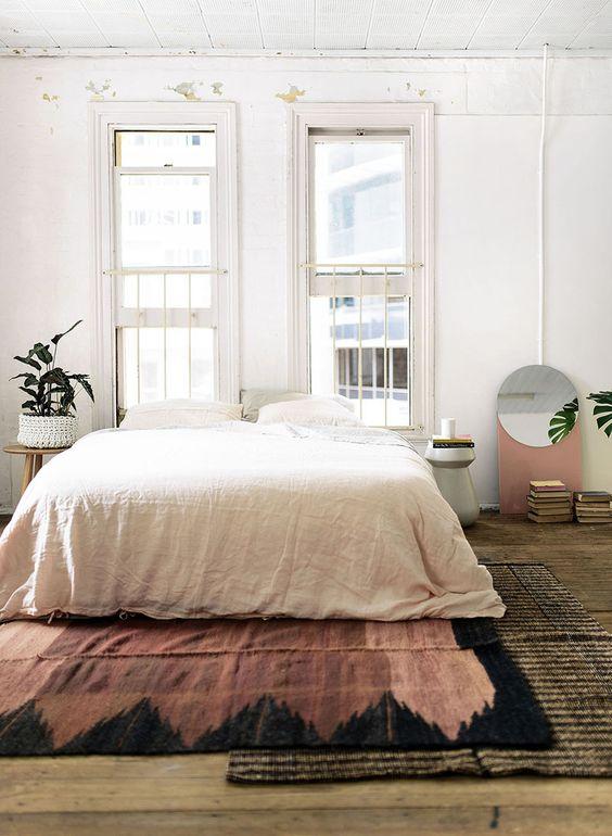 Vloerkleed uiteinde bed