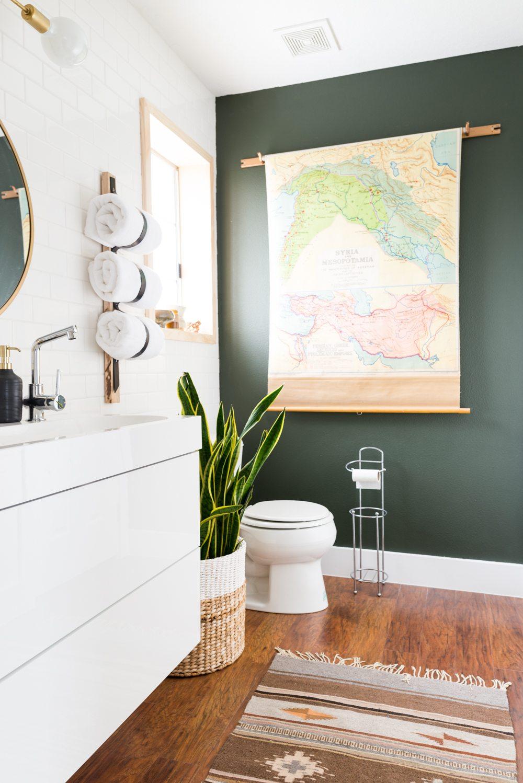 wanddecoratie badkamer