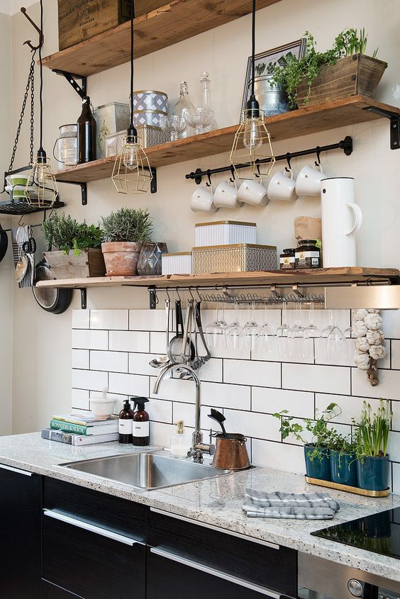 Keuken wandplank