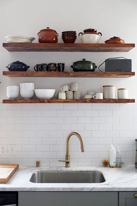 Wandplank Keuken Landelijk.Wandplank Ideeen Homease