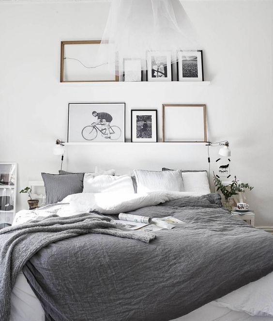 54 Amazing All White Bedroom Ideas: Wandplank Ideeën