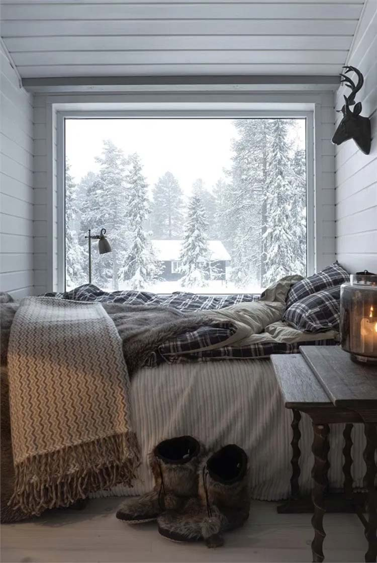 warm knus winter slaapkamer