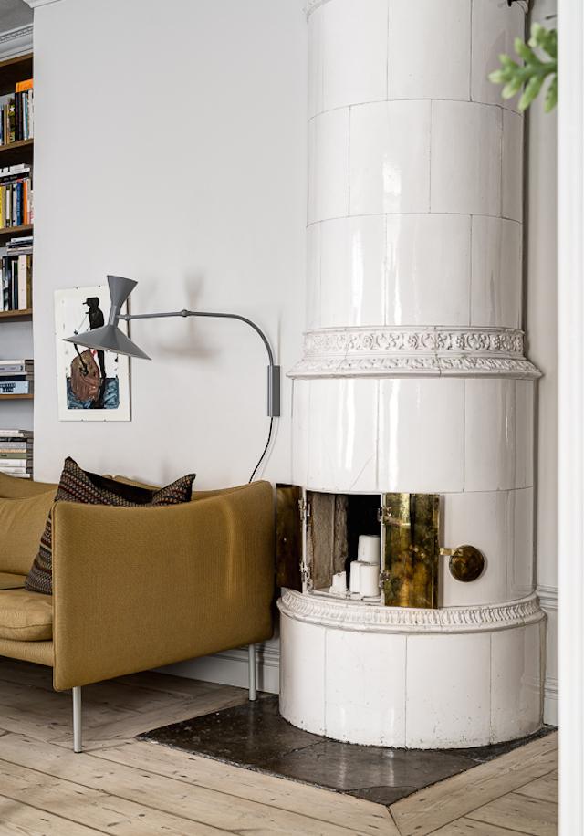Warme kleuren in een Scandinavische woonkamer