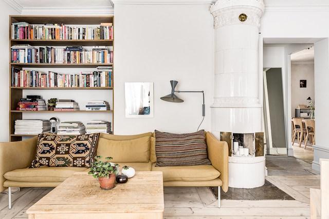 Scandinavisch Interieur Sydney : Warme kleuren in een scandinavische woonkamer homease