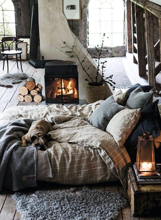 Warme, knusse en gezellige herfstsfeer in huis