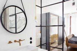 Warme vintage slaapkamer badkamer combinatie van Lucja en Lucy