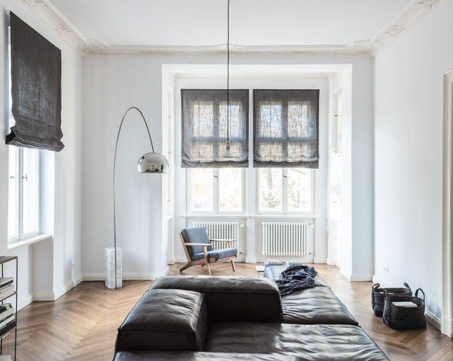 Warme vintage woonkamer in een klassiek appartement homease for Vintage woonkamer