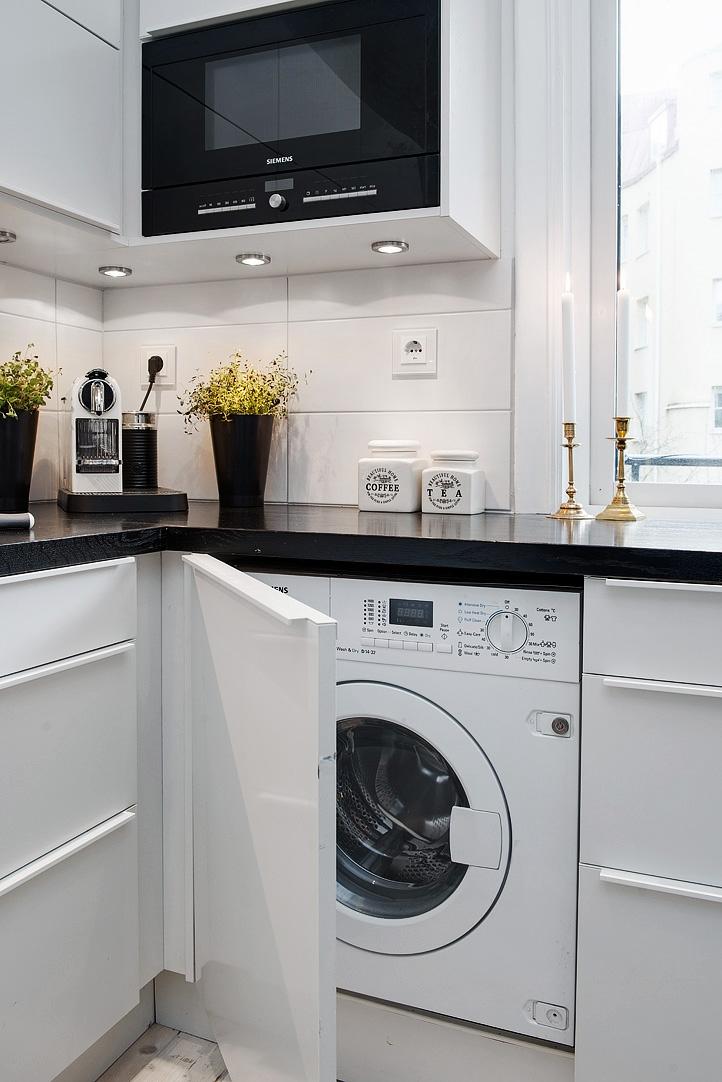 Wasmachine in de keuken