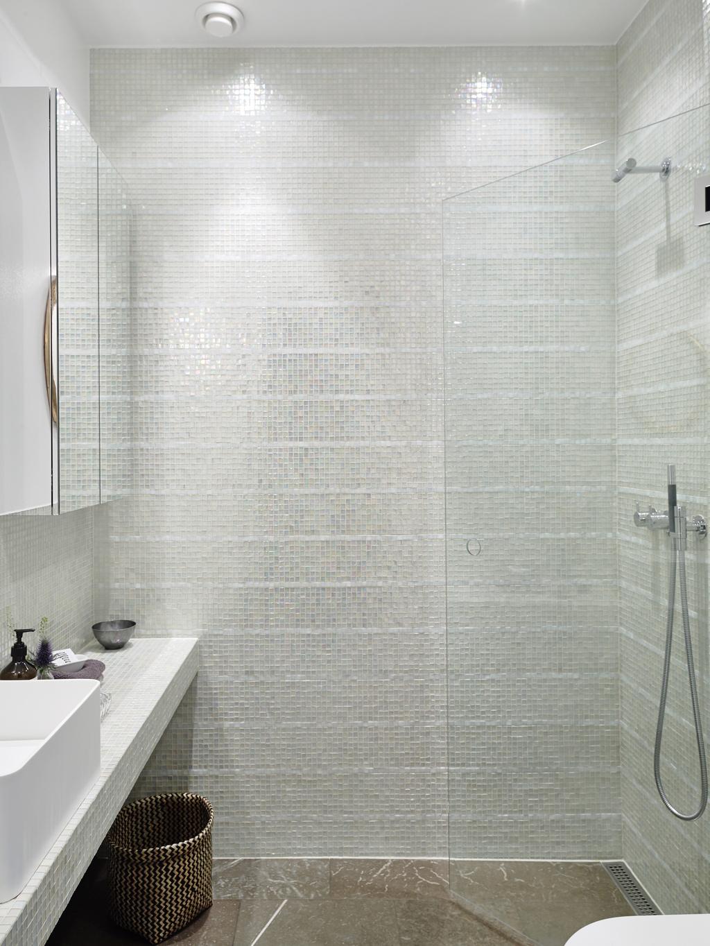 wastafelblad badkamer mozaïektegels