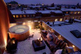Winter dakterras met jacuzzi