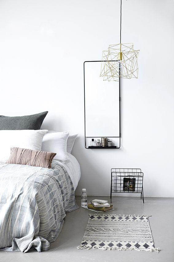 Witte muren slaapkamer