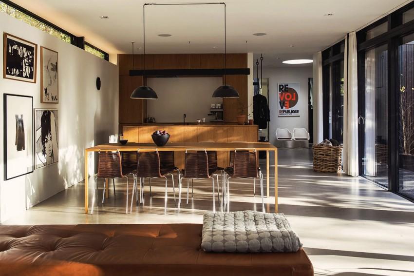 Woonkamer van deense bungalow villa homease for Cocina unida a salon