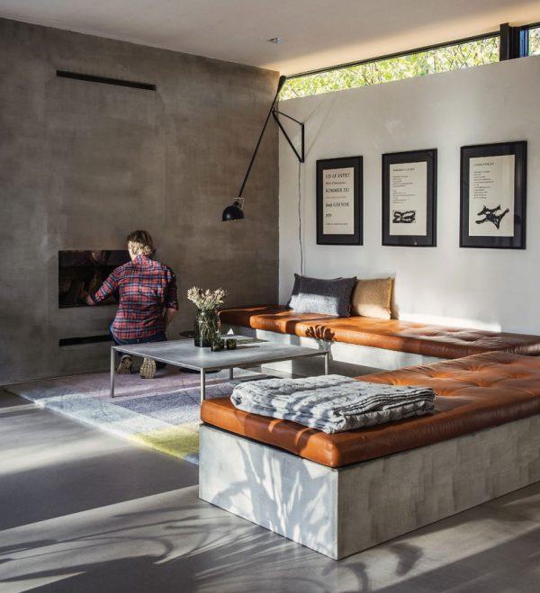 Woonkamer van Deense bungalow villa