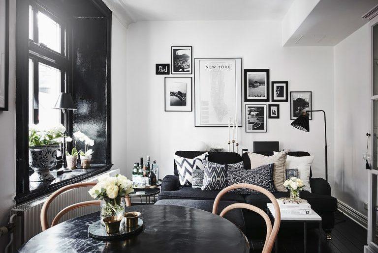 woonkamer ideeen kozijn kleur zwart