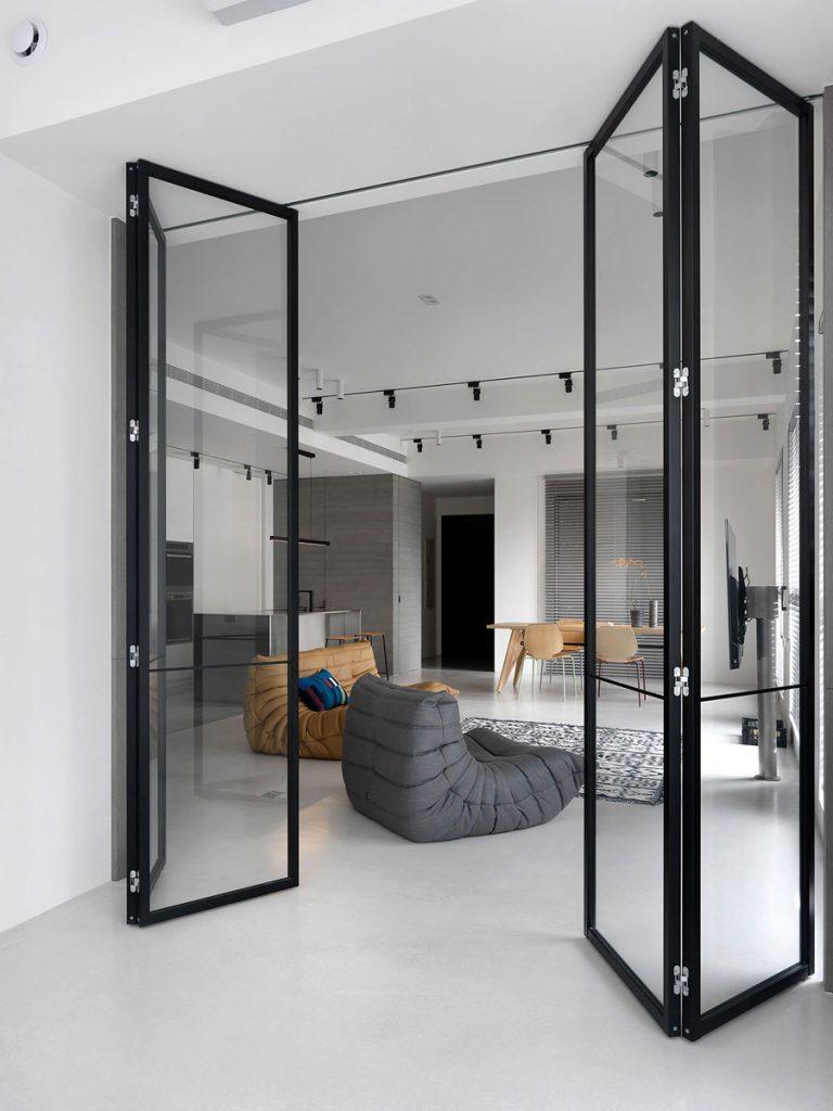 woonkamer ideeen moderne woonkamer tv aan paal voor raam