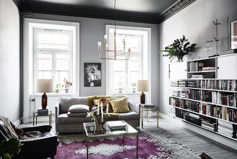 woonkamer ideeen plafondkleur zwart