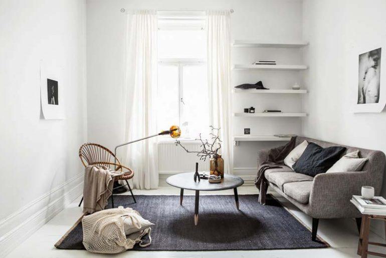 woonkamer ideeen ronde salontafel in kleine woonkamer