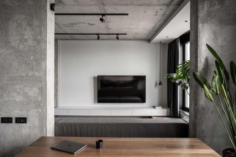 woonkamer ideeen - moderne woonkamer tv aan de muur