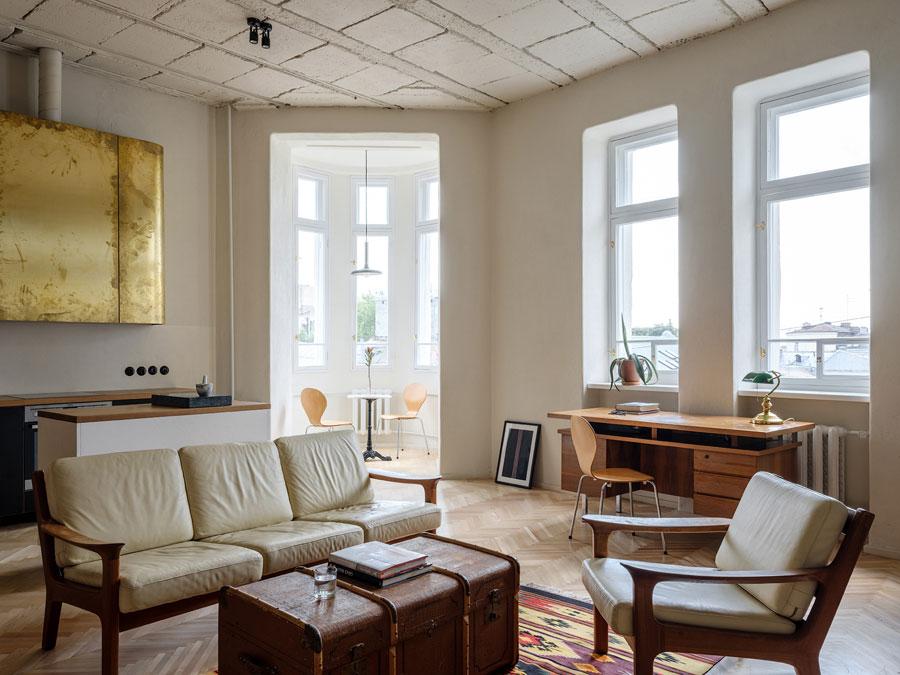 woonkamer ideeen vintage kist salontafel