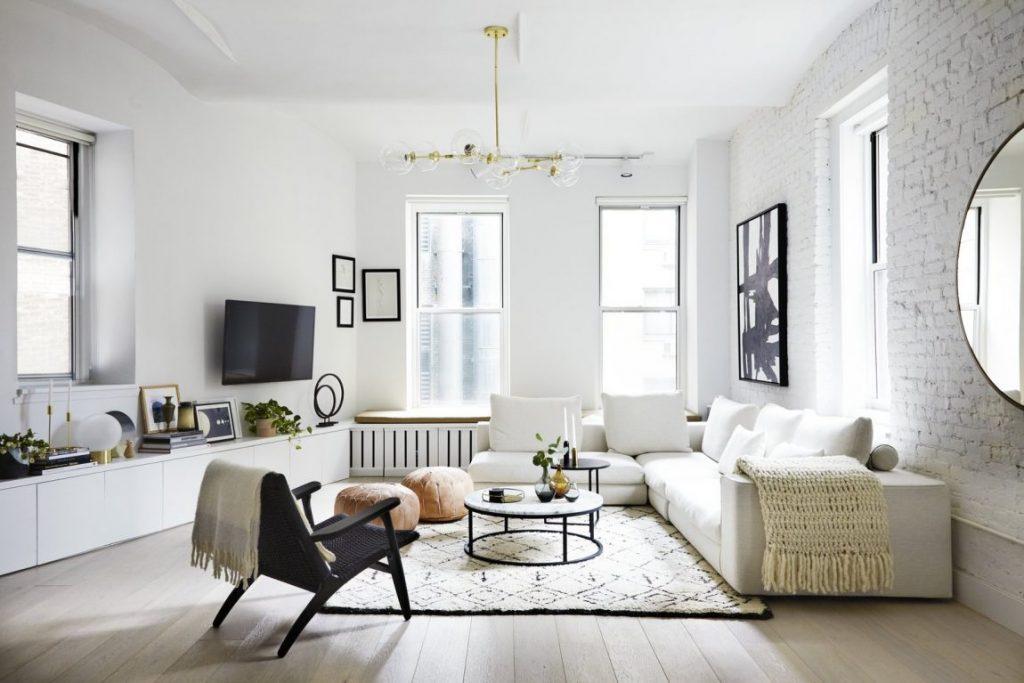 woonkamer inrichten tv ophangen