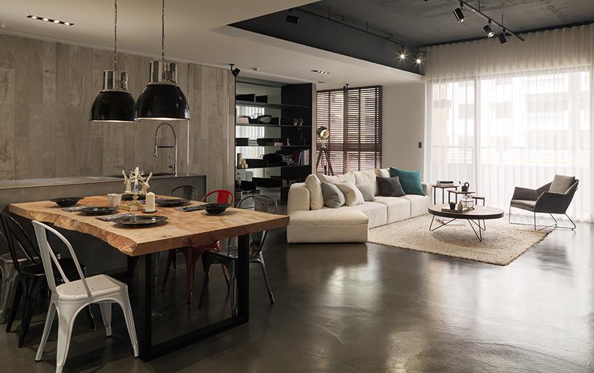 In deze woonkamer is luxe met industrieel gecombineerd! | HOMEASE