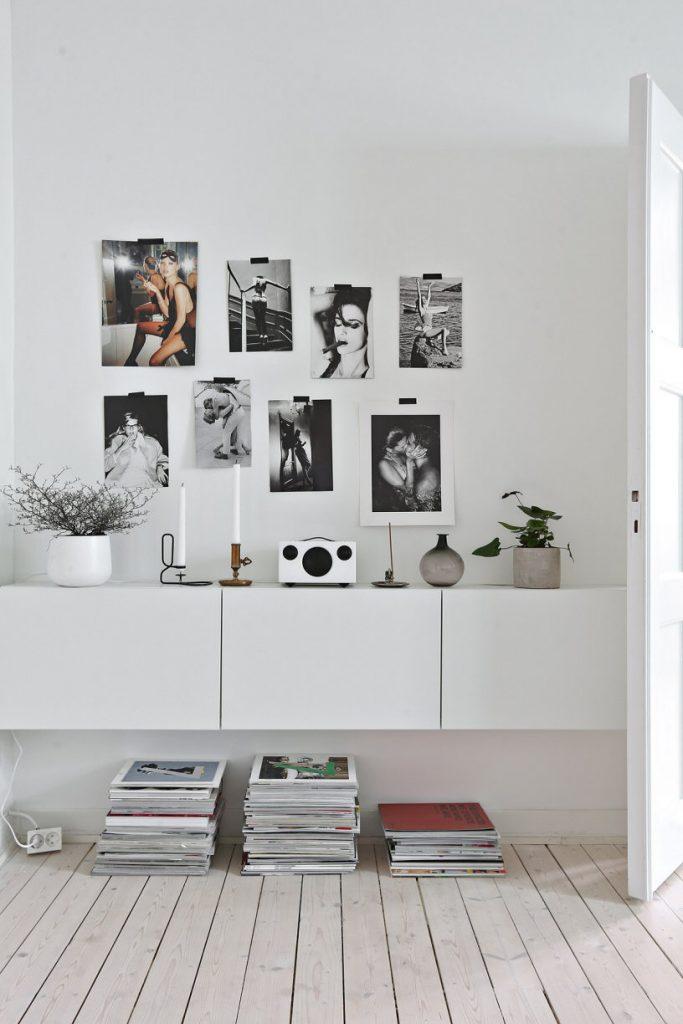 Woonkamer van een klein scandinavisch appartement homease - Decoratie klein appartement ...