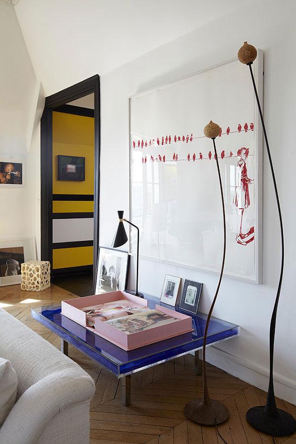 Woonkamer van luxe appartement uit Parijs