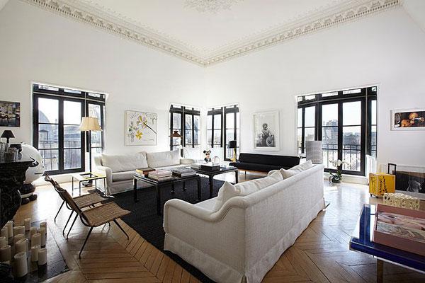 Woonkamer van luxe appartement uit Parijs | HOMEASE