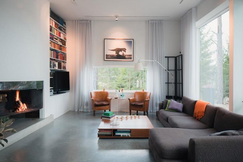 woonkamer met natuur decoratie homease