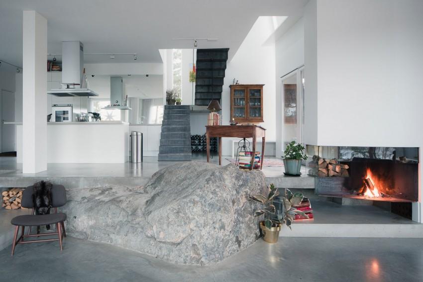 Woonkamer met natuur decoratie | HOMEASE