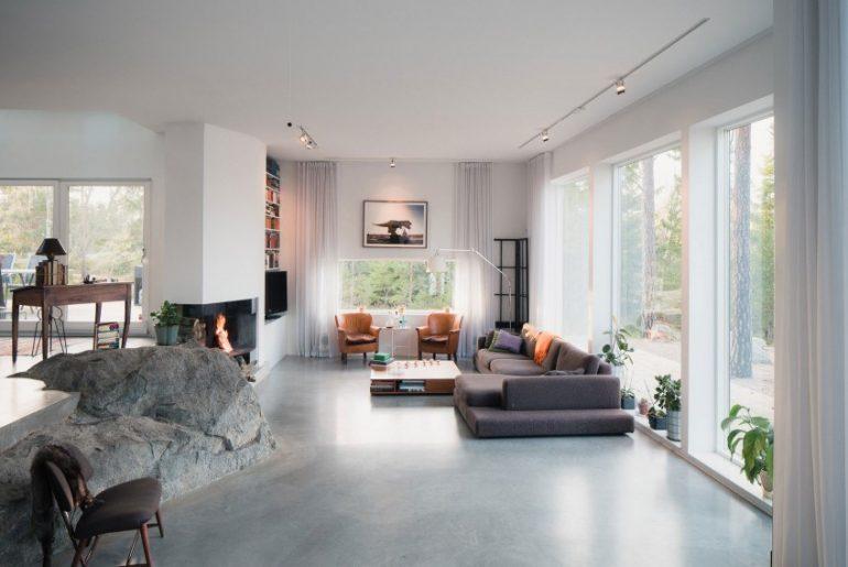 Woonkamer met natuur decoratie homease - Home decoratie met tomettes ...