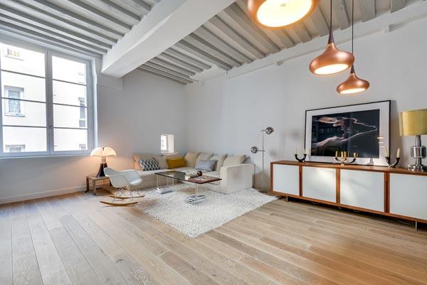 Woonkamer met open keuken uit Parijs | HOMEASE
