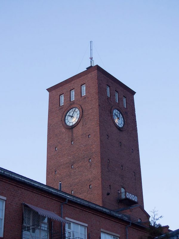 Woonkamer van een oude Finse fabriek