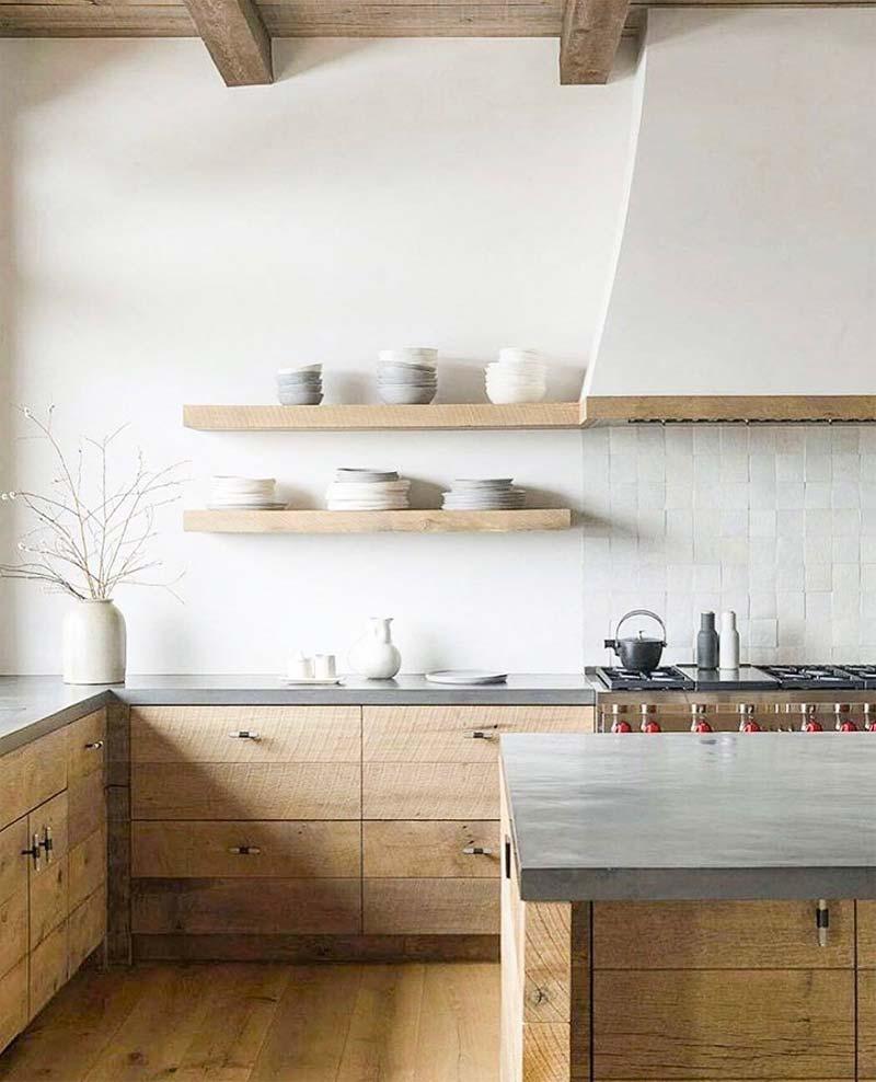woontrends 2021 rustieke houten keuken