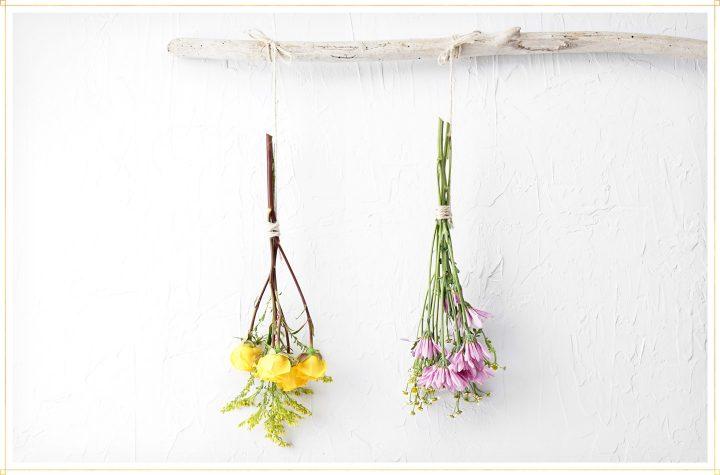 zelf bloemen drogen hangen