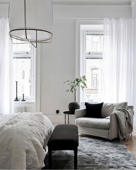 zithoekje slaapkamer fauteuil