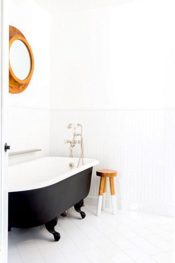 Zwart klassiek bad