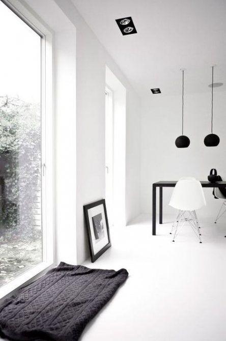 Zwart wit grijs interieur