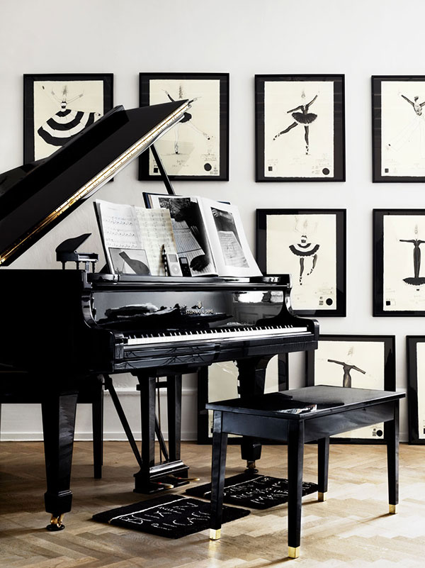 Zwart wit interieur van deense kunstenares homease for Interieur zwart wit