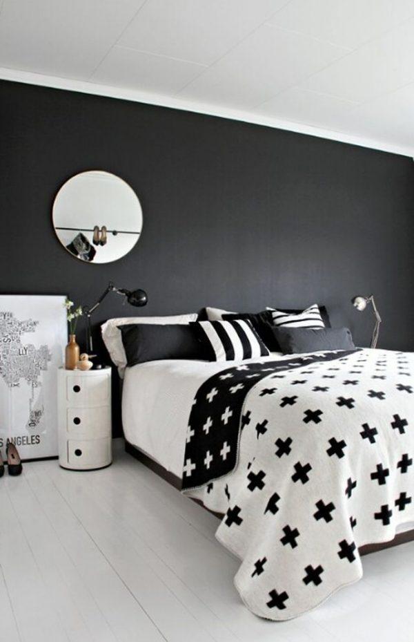 Zwart wit interieur ideeën