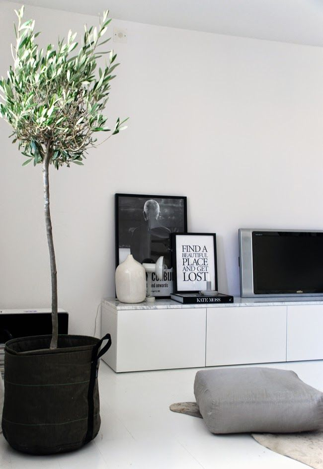 10x zwart wit interieur idee n homease for Decoratie naast tv